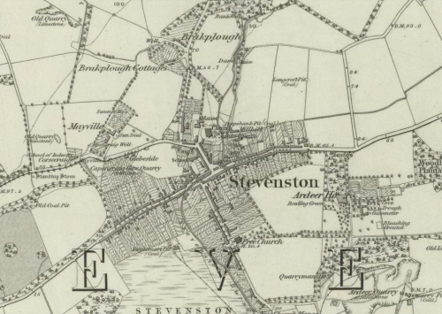 1856 Map of Stevenston