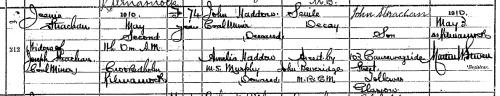 1910 Death Jeanie Haddow
