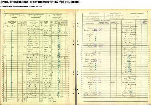 1911 Census Strachan Henry 38 Cambuslang