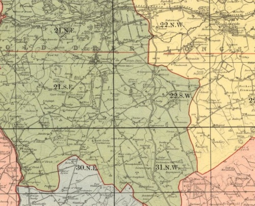 1898 Map of Old Deer with Auchticlair