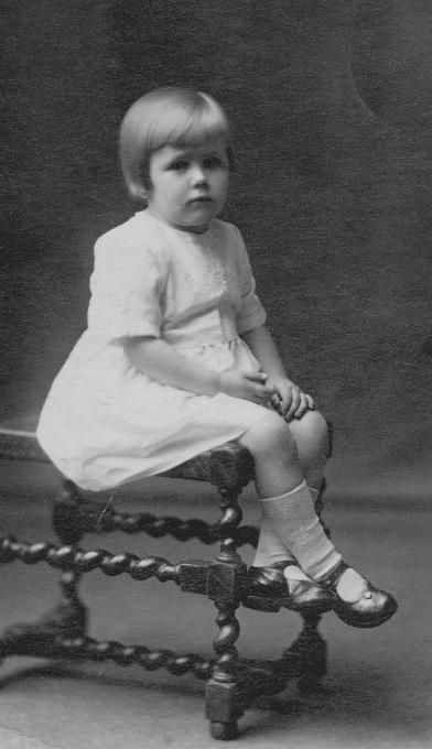 Dorothy Fraser age 3